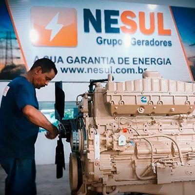 Instalação de grupo gerador diesel